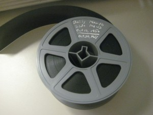 One of the microfilm reels I examined in the New York Public Library. Good thing Wayne didn't get his hands on this one...